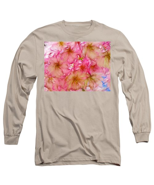 Long Sleeve T-Shirt featuring the digital art Pink Blossom by Lilia D