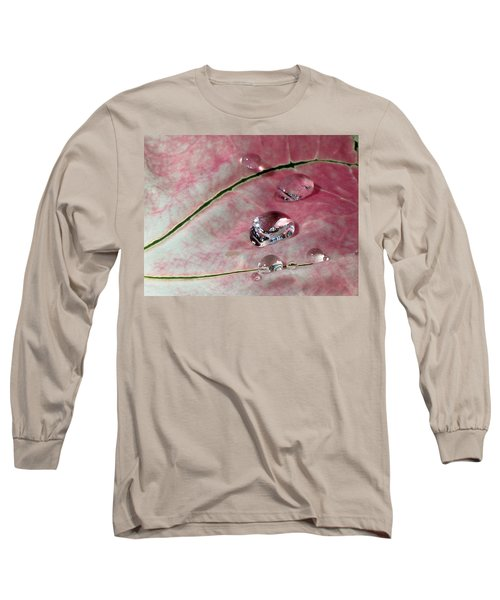 Pink Fancy Leaf Caladium - September Tears Long Sleeve T-Shirt