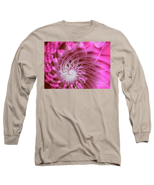 Pink Long Sleeve T-Shirt by Lena Auxier