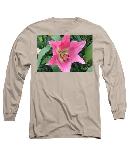 Long Sleeve T-Shirt featuring the photograph Pink Lily by Jeannie Rhode
