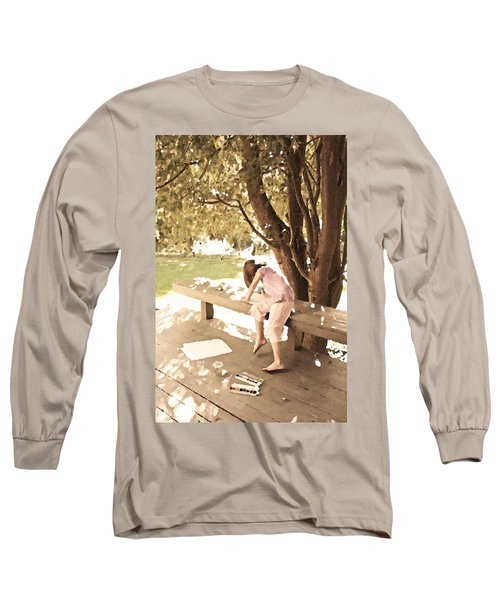 Long Sleeve T-Shirt featuring the photograph Pink Painter by Brooke T Ryan