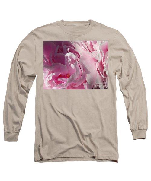 Pink Peonies Long Sleeve T-Shirt
