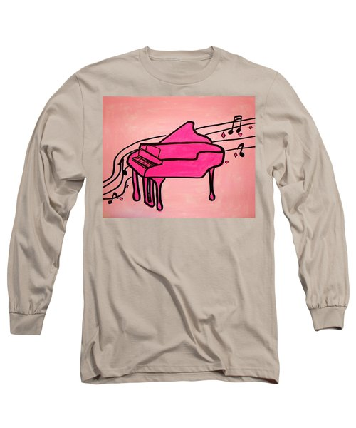 Pink Piano Long Sleeve T-Shirt