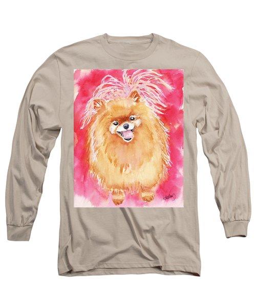 Pink Pom Long Sleeve T-Shirt