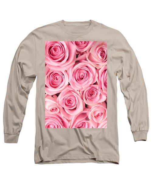 Pink Roses Long Sleeve T-Shirt by Munir Alawi
