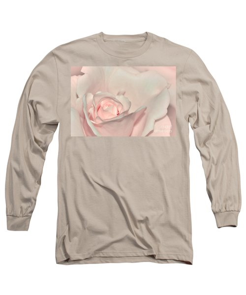 Pink Satin Long Sleeve T-Shirt