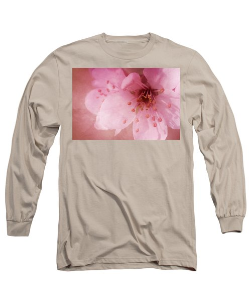 Long Sleeve T-Shirt featuring the photograph Pink Spring Blossom by Ann Lauwers
