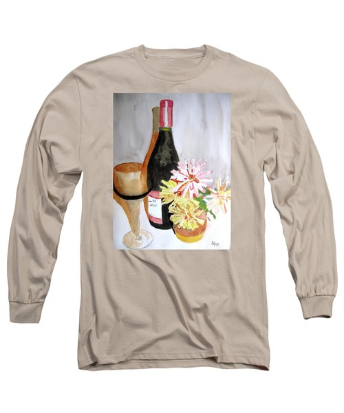 Long Sleeve T-Shirt featuring the painting Pinot Noir by Sandy McIntire