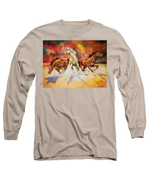 Plains Thunder Long Sleeve T-Shirt by Al Brown