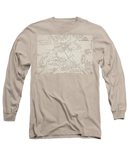 Plan Of The Assault On Ladysmith Long Sleeve T-Shirt