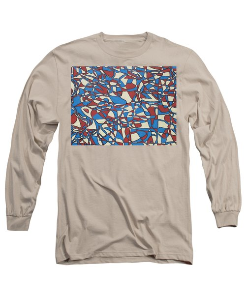 Long Sleeve T-Shirt featuring the painting Planet Abstract by Jonathon Hansen