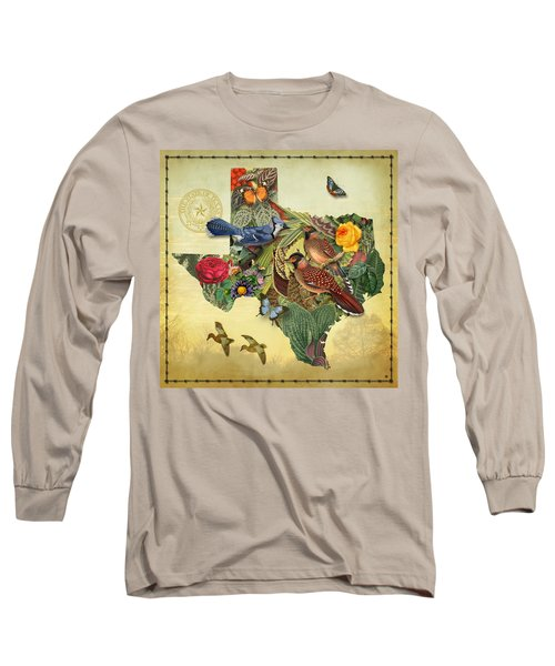Nature Map Of Texas Long Sleeve T-Shirt