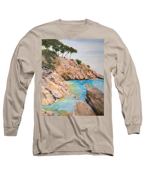 Playa De Aro Long Sleeve T-Shirt by Marilyn Zalatan