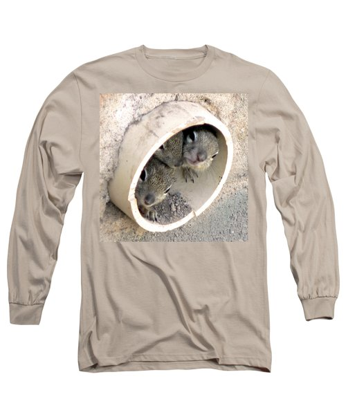 Playing In A Pipe Long Sleeve T-Shirt by Laurel Powell