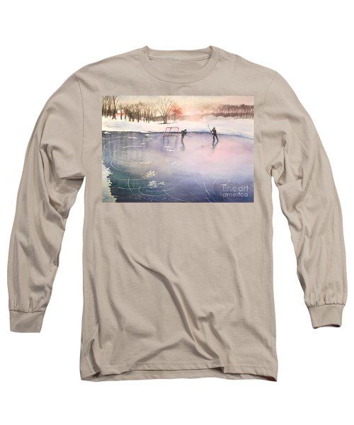 Playing On Ice Long Sleeve T-Shirt by Yoshiko Mishina