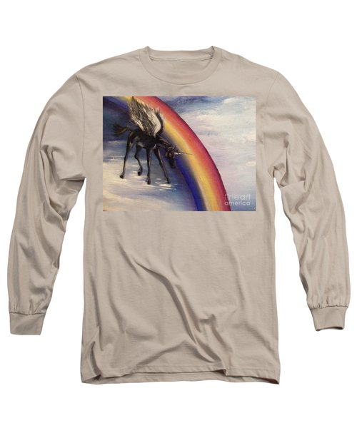 Playing With Rainbow Long Sleeve T-Shirt