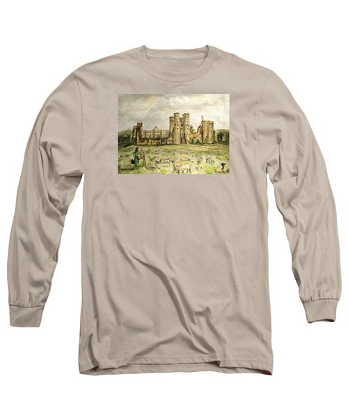 Plein Air Painting At Cowdray House Sussex Long Sleeve T-Shirt by Angela Davies