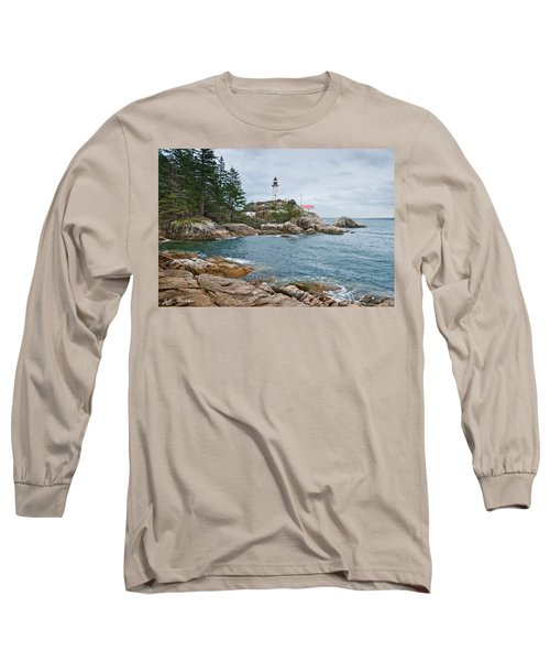 Point Atkinson Lighthouse And Rocky Shore Long Sleeve T-Shirt