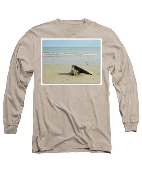 Pointed Rock At Squibby Long Sleeve T-Shirt by Kathy Barney