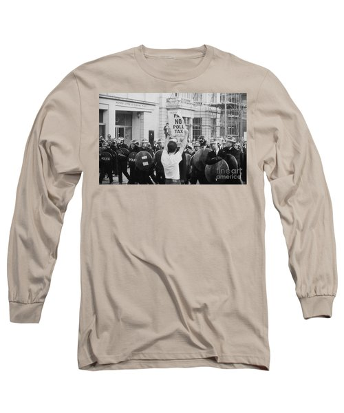 Poll Tax Riots London Long Sleeve T-Shirt