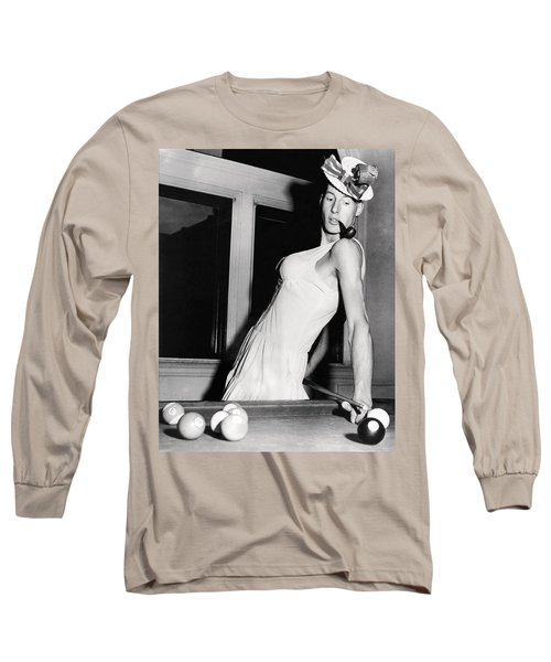 Pool Player's Feminine Side Long Sleeve T-Shirt