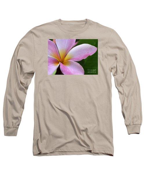 Pop Of Pink Plumeria Long Sleeve T-Shirt
