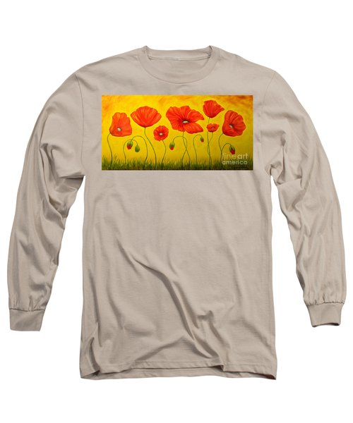 Poppies At The Time Of Long Sleeve T-Shirt