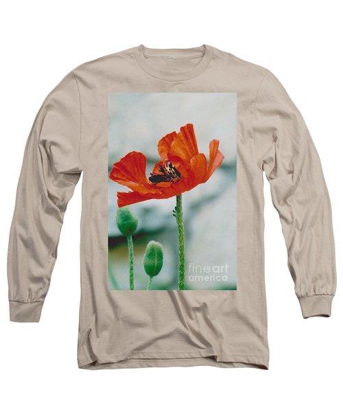 Poppy - 1 Long Sleeve T-Shirt by Jackie Mueller-Jones