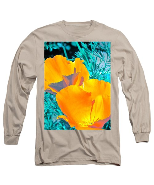 Poppy 4 Long Sleeve T-Shirt by Pamela Cooper