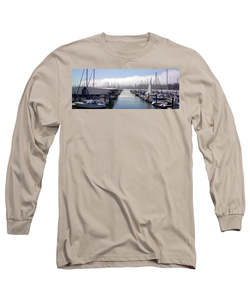 Long Sleeve T-Shirt featuring the photograph Port Kingston Marina by Greg Reed