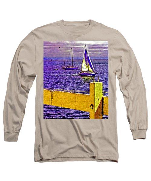Port Of Call 4 Sailboats  Long Sleeve T-Shirt