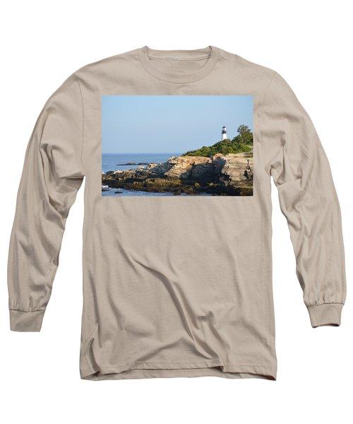Portland Head Light In Summer Long Sleeve T-Shirt