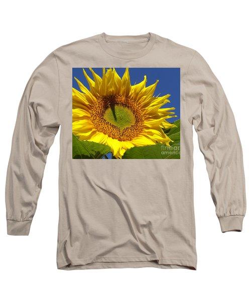 Portrait Of A Sunflower Long Sleeve T-Shirt