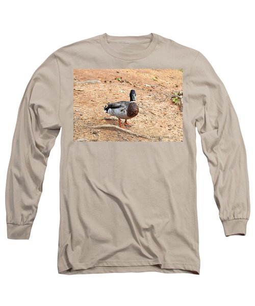 Long Sleeve T-Shirt featuring the photograph Portrait Of An Alabama Duck 2 by Verana Stark