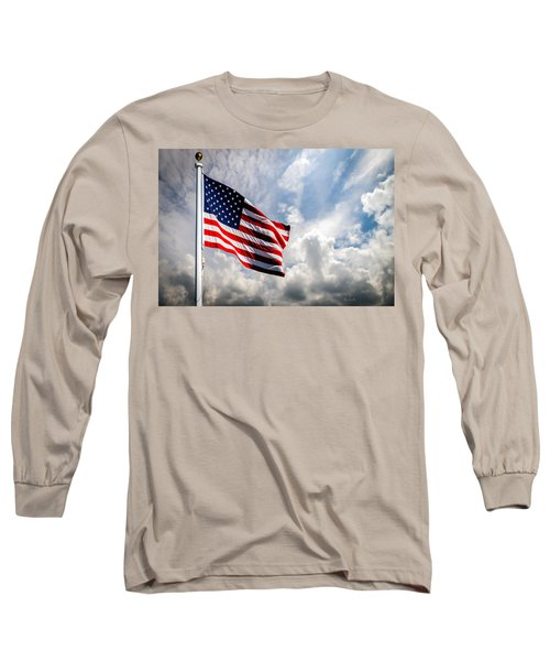 Portrait Of The United States Of America Flag Long Sleeve T-Shirt