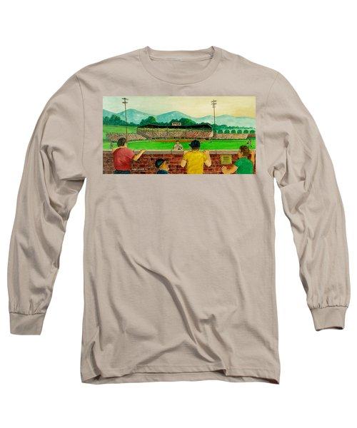 Portsmouth Athletics Vs Muncie Reds 1948 Long Sleeve T-Shirt by Frank Hunter