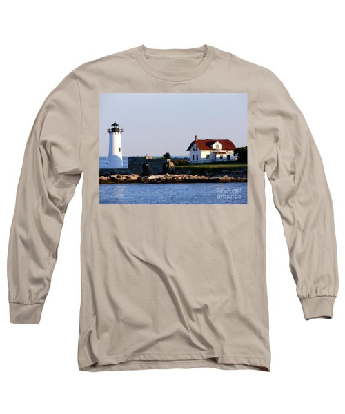 Portsmouth Harbor Light Long Sleeve T-Shirt by Kevin Fortier