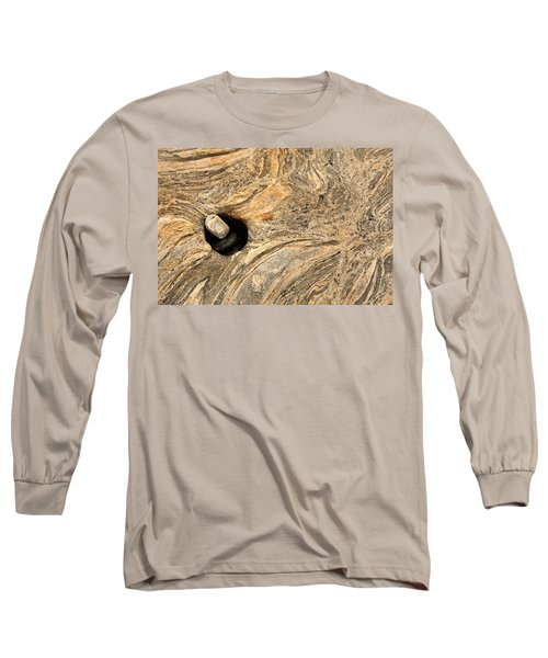 Pothole And Stone Pemaquid Point Maine Long Sleeve T-Shirt