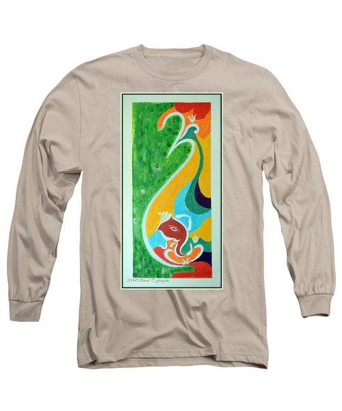 Power Of Aum Long Sleeve T-Shirt by Sonali Gangane