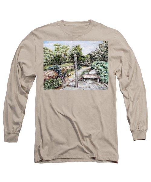 Prayer Wheel Long Sleeve T-Shirt by Danuta Bennett