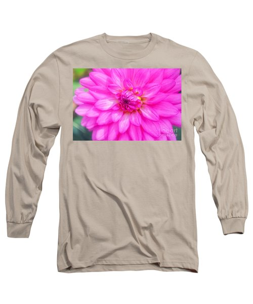 Pretty In Pink Dahlia Long Sleeve T-Shirt