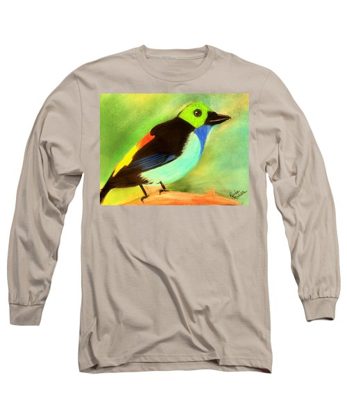 Pretty Paradise Tanager Long Sleeve T-Shirt