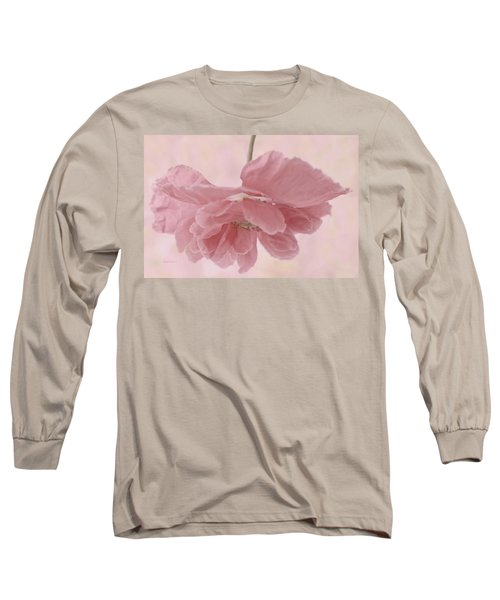 Long Sleeve T-Shirt featuring the photograph Pretty Pink Poppy Macro by Sandra Foster