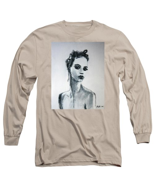 Long Sleeve T-Shirt featuring the painting Primadonna by Jarmo Korhonen aka Jarko