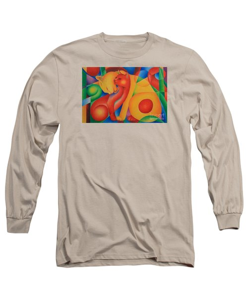 Primary Cats Long Sleeve T-Shirt by Pamela Clements