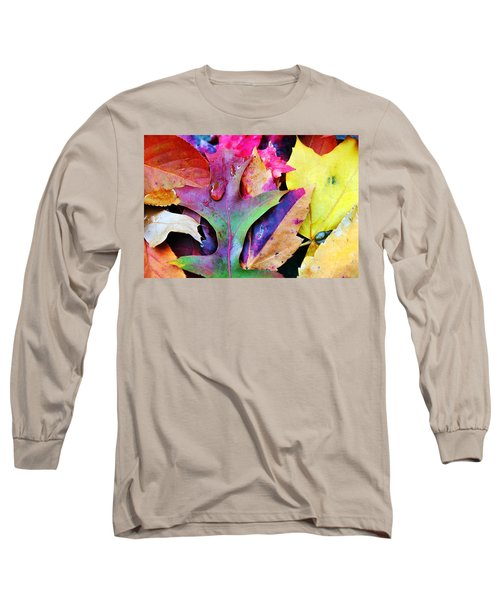 Long Sleeve T-Shirt featuring the photograph Primary Colors Of Fall by Judy Palkimas