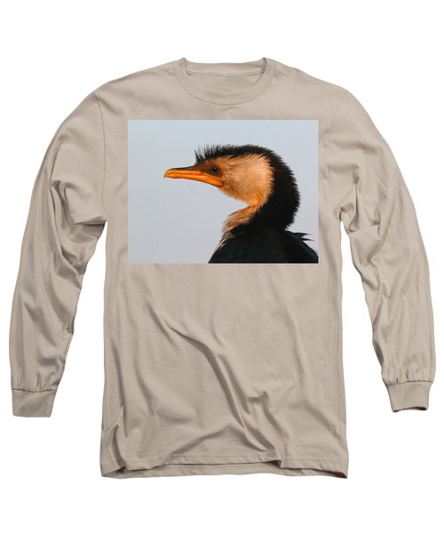 Profile Of A Young Cormorant Long Sleeve T-Shirt