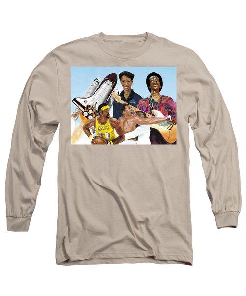 Jimi, Muhammad Ali, Wilt Chamberlain And Mae Carol Jemison Long Sleeve T-Shirt