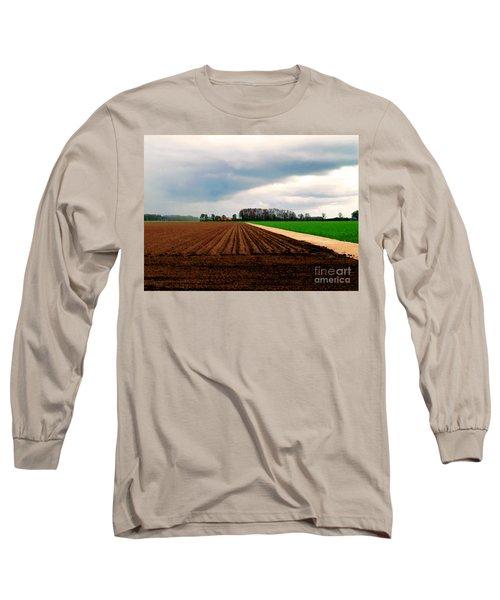 Long Sleeve T-Shirt featuring the photograph Promissing Field by Luc Van de Steeg