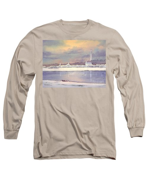 Long Sleeve T-Shirt featuring the painting Provincetown Evening Lights by Bill Holkham